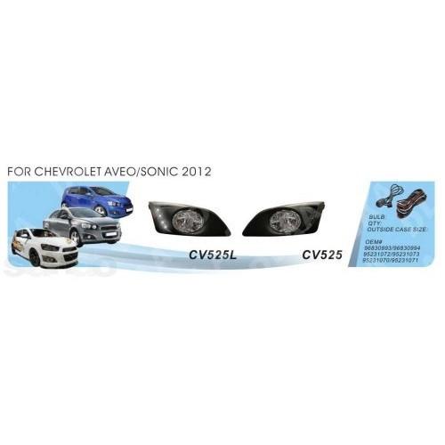 Фары Chevrolet Aveo/2012-/CV-525W