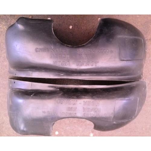 Подкрылки (защита арок) Chevrolet Spark / Шевролет Спарк комплект (Unidec)