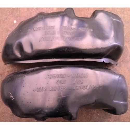 Подкрылки (защита арок) Chevrolet Spark / Шевролет Спарк задние (Unidec)