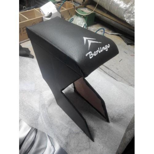 Подлокотник Citroen Berlingo / Ситроен Берлинго 2005 (черный с надписью)
