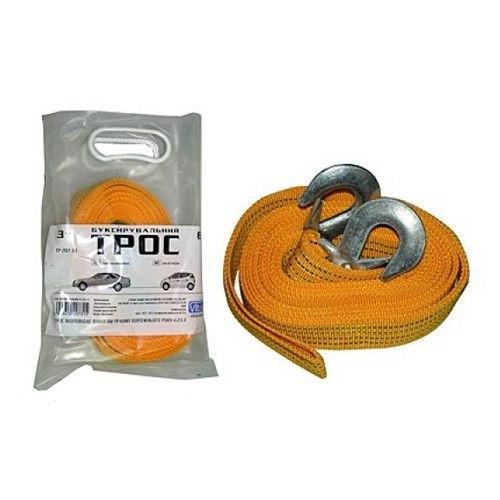 Трос буксировочный ST205B/TP-207-3-1 3т лента 46мм х 6м желтый